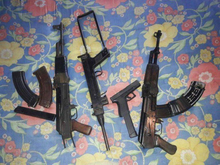 Capturan a individuos con armas de grueso calibre en la Nueva Capital