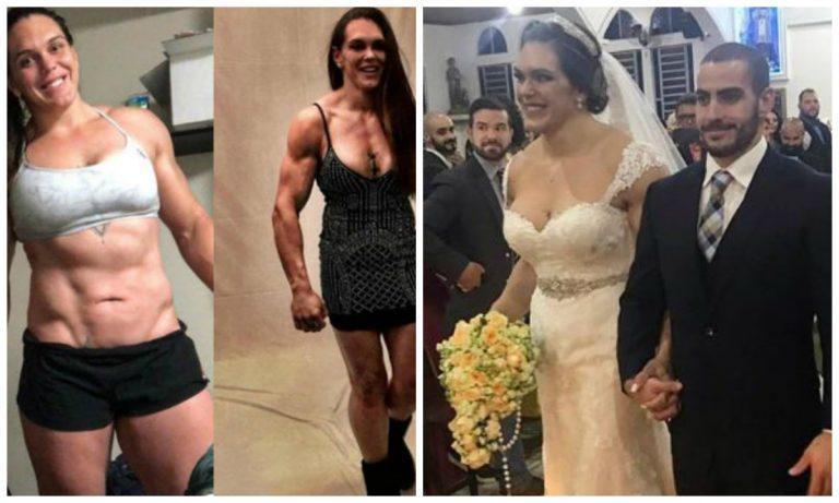 ¡MUSCULOSA novia se hizo viral por su aspecto el día de su boda! VIDEO