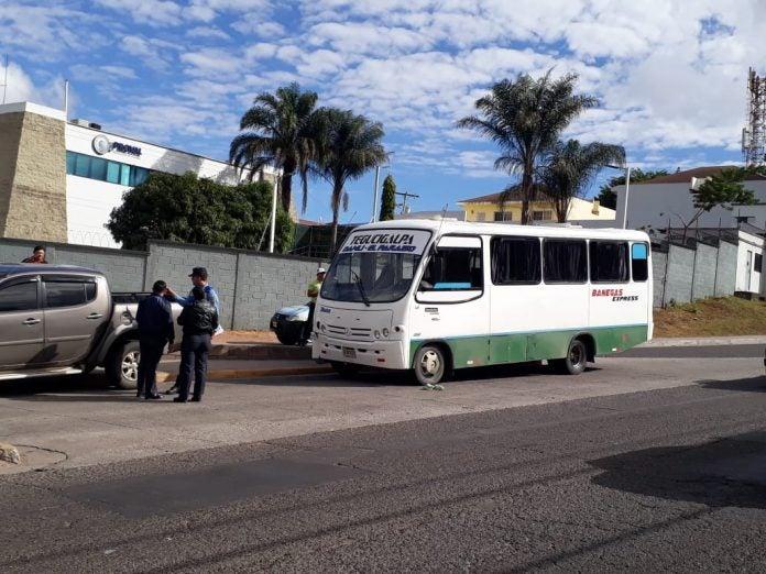 asalto a bus en Tegucigalpa