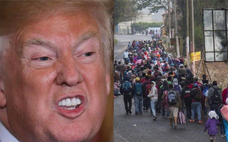 """Donald Trump: """"México no está haciendo nada para detener la caravana"""""""