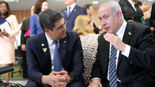 Juan Orlando pide a Netanyahu que medie entre él y Trump a cambio de pasar embajada a Jerusalén