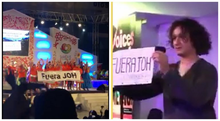 """""""Fuera JOH"""" se grita en Panamá antes de la llegada del Papa; y en Londres es la entonación de extranjeros"""