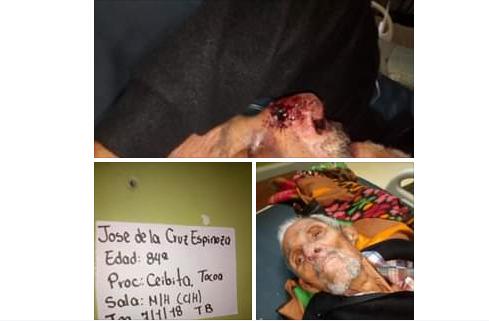 Paciente del Hospital de Tocoa necesita localizar a su familia; está en situación crítica