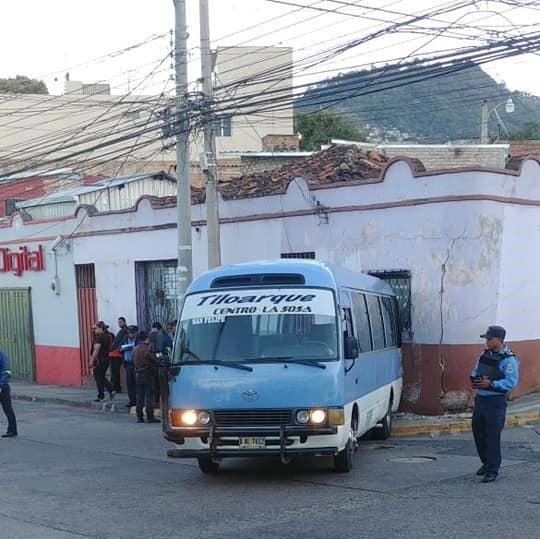 atentado contra motorista en Tegucigalpa