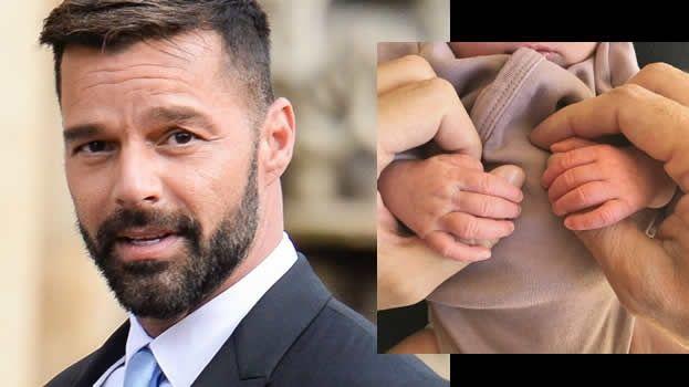Ricky Martin anuncia que es padre de una hermosa niña llamada Lucía Martin-Yosef