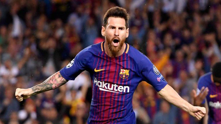 Doblete de Lionel Messi ante el Espanyol en el derbi catalán