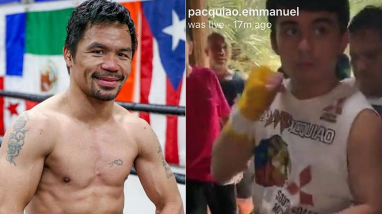 CURIOSIDADES: Manny Pacquiao pide a su hijo que deje de boxear