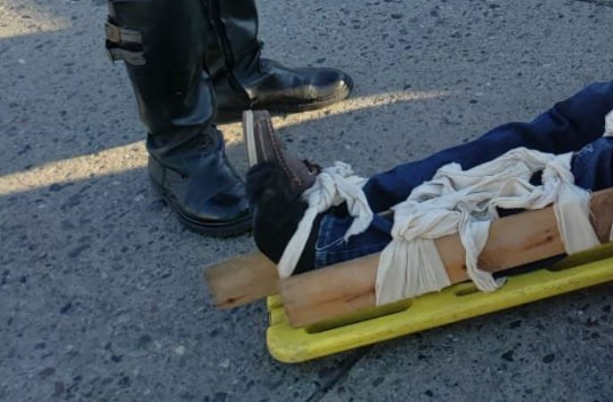 hombre herido en San Pedro Sula