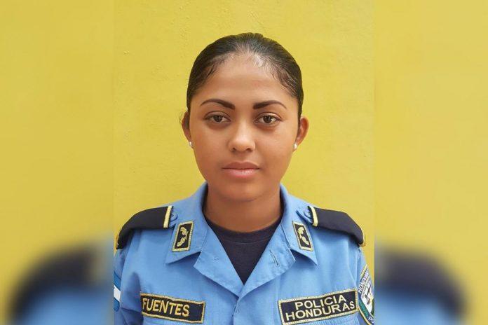 mujer policía muerta en Cortés