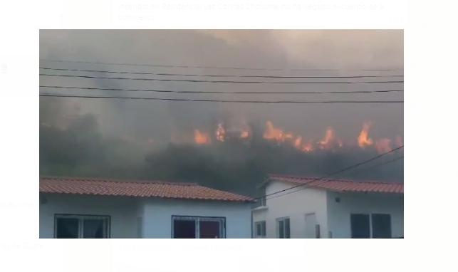 Video: Incendio en Choloma está imparable y con el riesgo de quemar casas