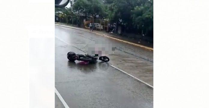 hombre atropellado en San Pedro Sula