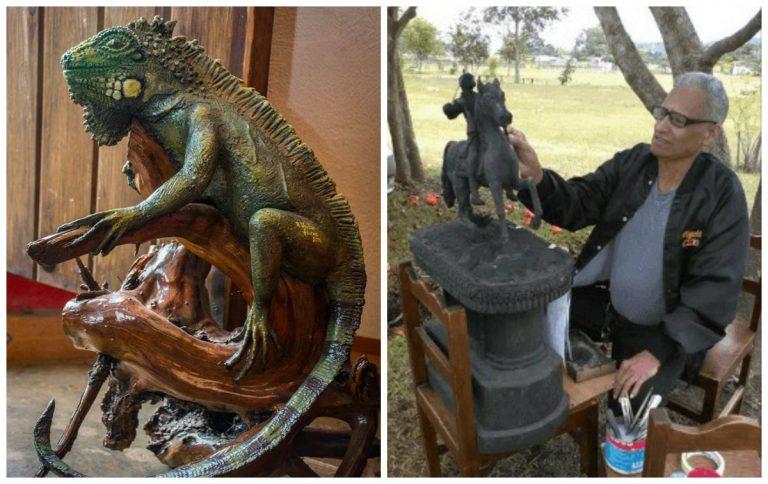 """HISTORIA HUMANA – Don Víctor Flores, el artista hondureño que crea esculturas con """"carrón"""""""