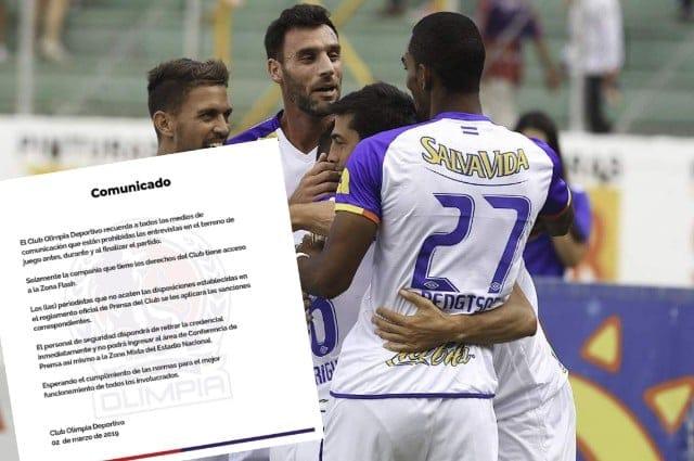 La amenaza de la directiva de Olimpia a la prensa deportiva