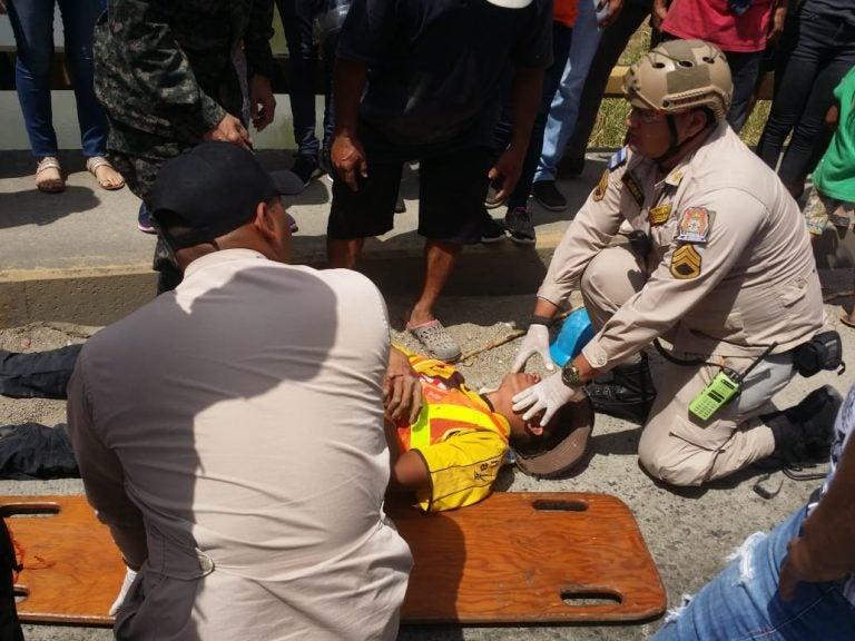 Cortés: brutal accidente deja ocho heridos en la CA-13