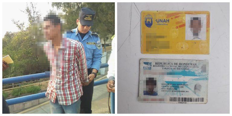 De nuevo en la UNAH: infraganti capturan a joven vendiendo supuesta droga