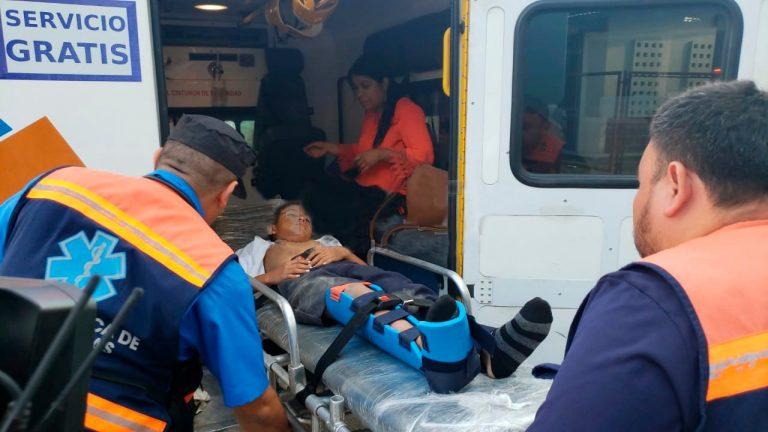 SPS: vehículo embiste a madre e hijo y se da a la fuga
