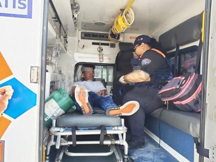 joven herido en San Pedro Sula