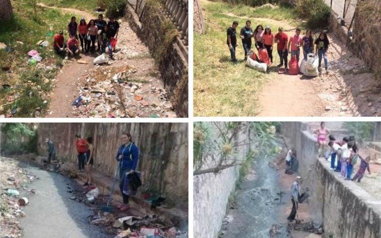 """Capitalinos se unen al reto """"Basura Challenge"""" y limpian calles y quebradas"""