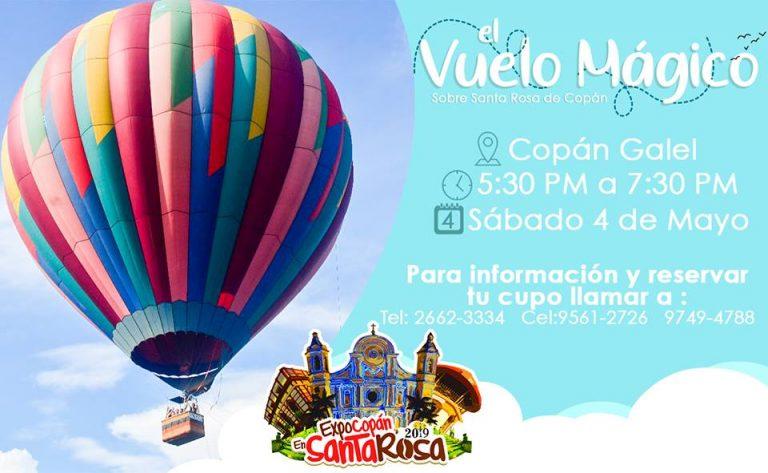Inauguran paseos en globo aerostático en la feria de Santa Rosa de Copán