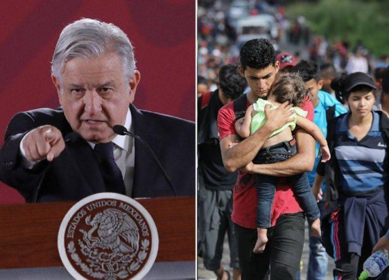 AMLO dice que el bloqueo a el «libre paso» de los migrantes es por «seguridad»