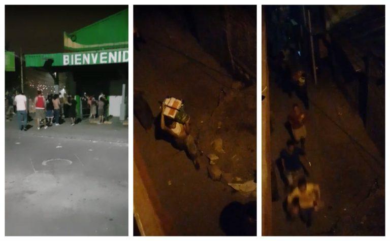 VÍDEO   En plena madrugada, saquean reconocido supermercado en El Pedregal