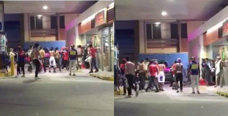 VÍDEO: miembros de la Ultra Fiel causan estragos en un establecimiento cercano al Morazán