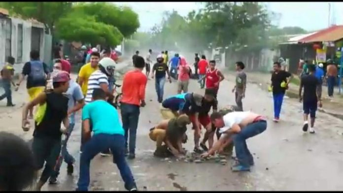 20 presuntos Manifestantes de choluteca