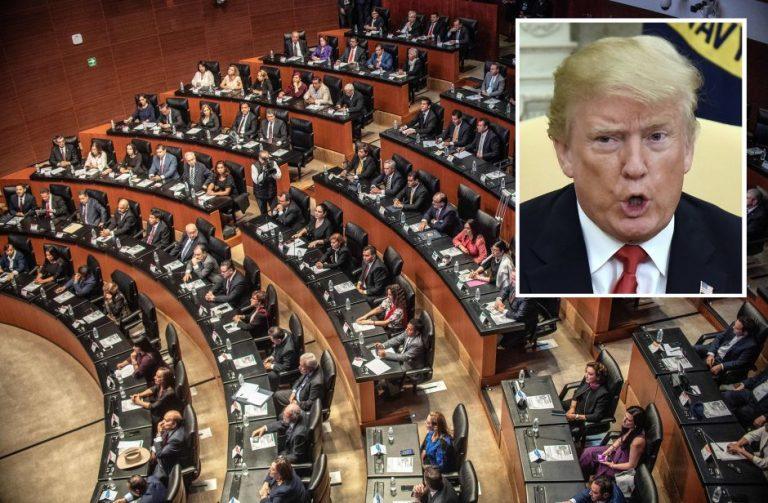 """Senado mexicano acusa a Trump de incitar """"actitudes xenofóbicas"""", """"odio y discriminación"""""""