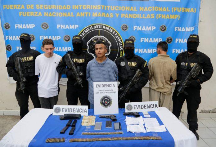 tres pandilleros de la 18