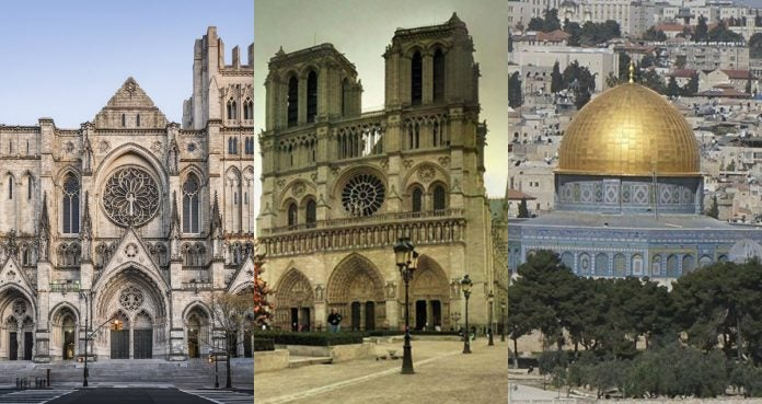 incendios en tres templos religiosos