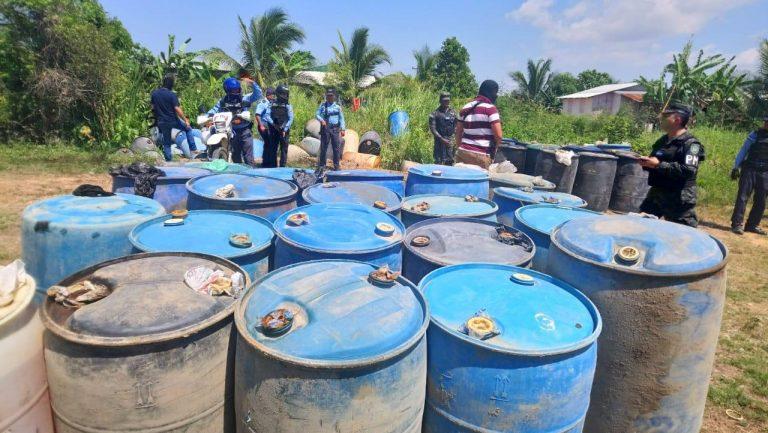 Decomisan 2,200 galones de combustible en Puerto Cortés, ¿y los capturados?