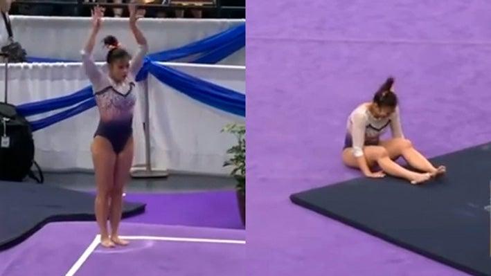 VIDEO: Samantha, la gimnasta que se quebró las rodillas pide respeto tras su lesión