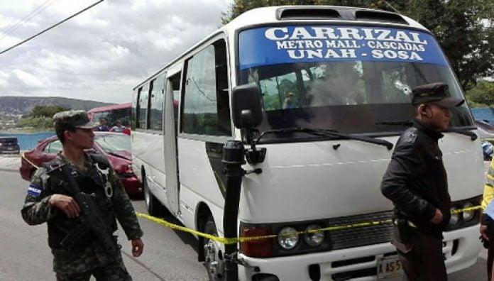 atentados contra transportistas en Tegucigalpa
