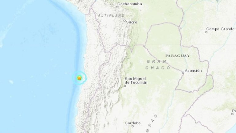 Chile: sismo de 5,5 cerca de las costas, hasta el momento no hay daños o víctimas