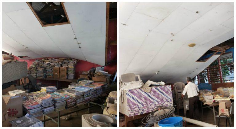 SPS: techo de escuela puede derrumbarse sobre los niños; autoridades no responden