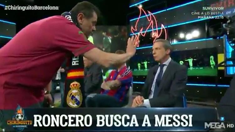 ¿Dónde está Dios? Las burlas de Tomás Roncero sobre Messi tras caer ante el Liverpool