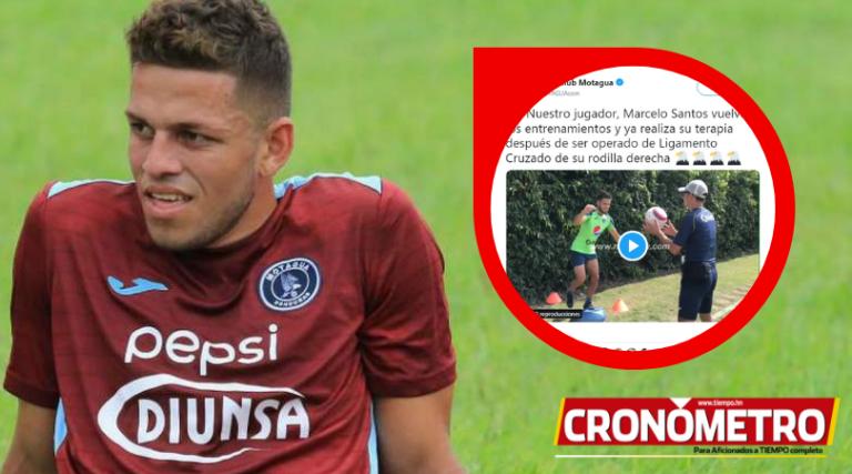 Marcelo Santos ya entrena y es opción contra Olimpia