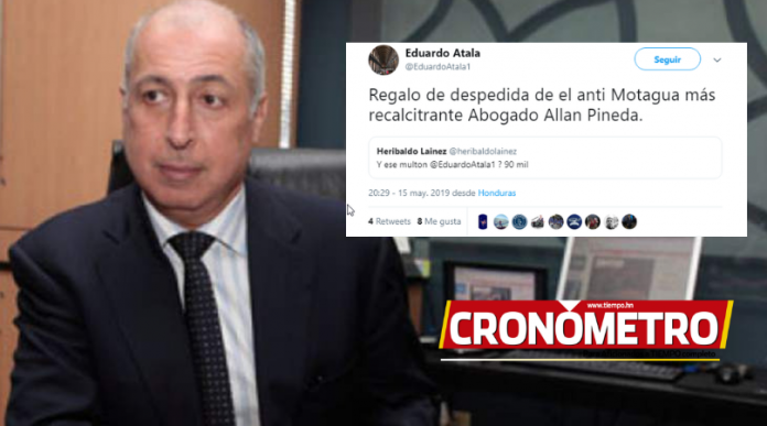 Eduardo Atala molesto por la sanción de la Comisión de Disciplina