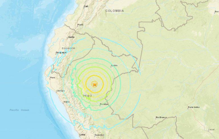 Sismo de 8,0 sacude a Perú y se siente en Ecuador, Colombia y Brasil