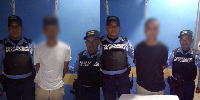 policía detuvo a dos miembros de la 18