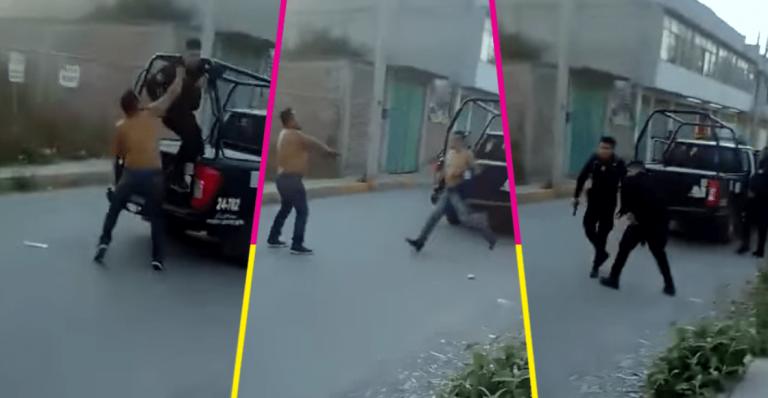 VÍDEO: Quitó arma a policía y disparó para evitar que se llevaran preso al amigo