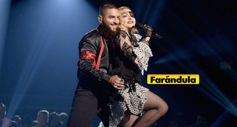 Maluma «manosea» a Madonna en plena presentación de Billboard 2019