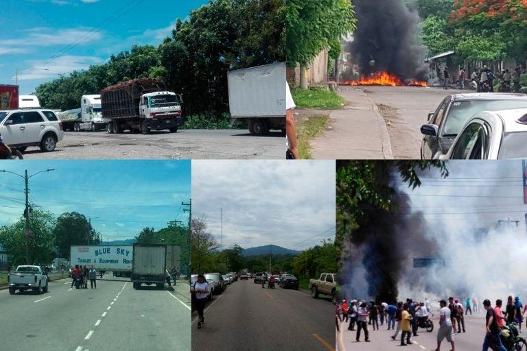 Honduras: Heridos, golpeados y saqueos en el segundo Día del Paro Nacional