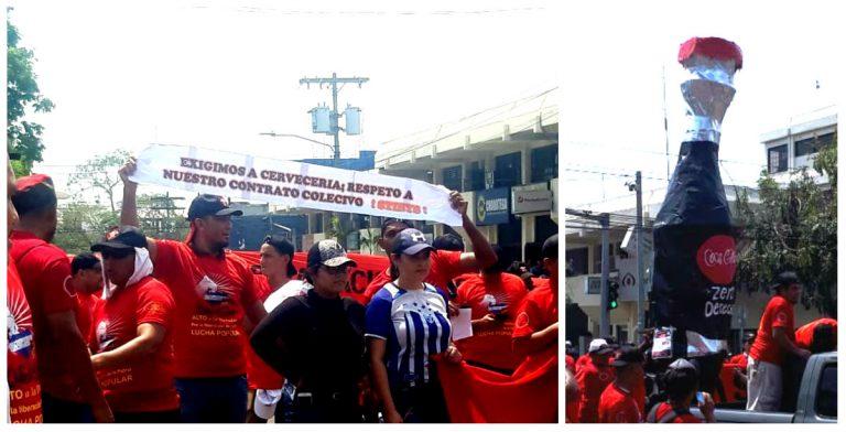 SPS: empleados de Cervecería Hondureña exigen respeto al contrato colectivo