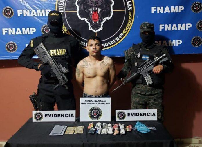 Pandillero capturado en Choluteca