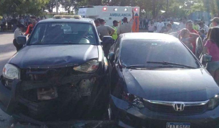 Policías municipales involucrados en accidente de tránsito en San Pedro Sula