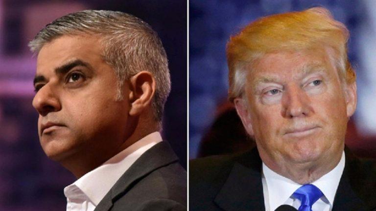 Trump critica de «trabajo terrible» la labor del alcalde de Londres y lo insulta