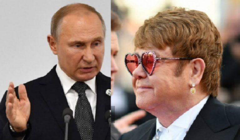 Elton John califica de «hipócrita» al presidente de Rusia, Vladimir Putin
