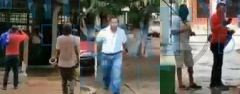 VÍDEO: encapuchados atemorizan a maestro en Sabá; él responde