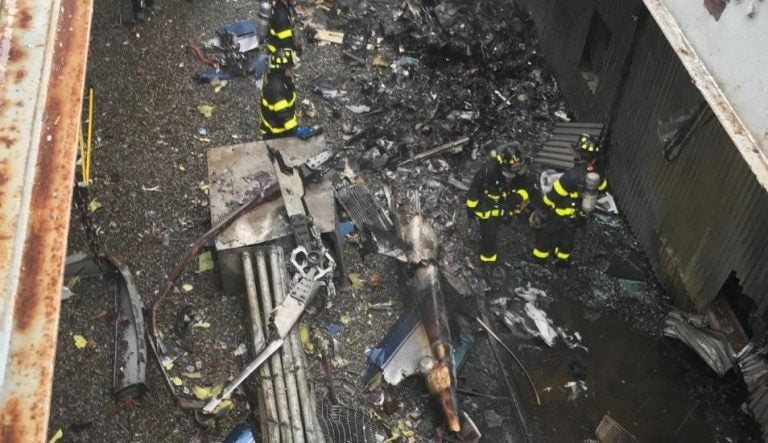 EEUU: imagen del helicóptero que hizo recordar los atentados del 11 de septiembre